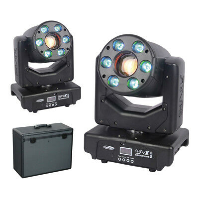 2x Showtec Shark Combi Spot One LED Moving Head Spot Wash Package • 749£