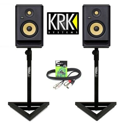KRK Rokit RP5 G4 Active 5  DJ Studio Monitor Speakers Inc Gorilla Stands & Cable • 369£