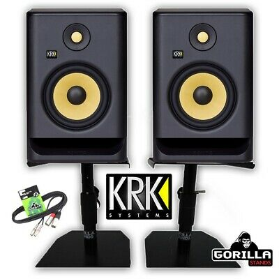 KRK Rokit RP7 G4 Active 6.25  Studio Monitor Speakers (Pair) With Stands & Cable • 359£
