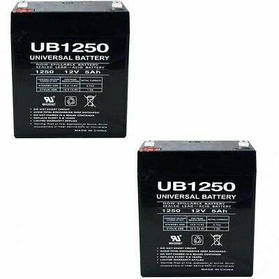 2PK UPG UB1250 12V 5AH Replacement Battery LD Systems Roadman 102(HS) PA System • 16.95£