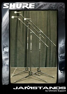 3pk Shure SM58-LC Microphones W/ Ultimate Stands! Free US 48 State Shipping!  • 266.91£