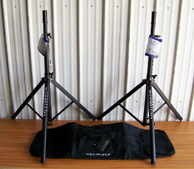 2 Ultimate Support TS70B Speaker Stands BAG90D Package! • 104.87£