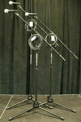 3pk Shure SM58-LC Microphones W/ Stands & 20' Cables! SM 58 Free US 48 Ship! • 275.80£
