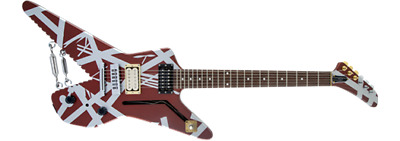 EVH Striped Series Shark Electric Guitar In Burgundy With Silver Stripes • 1,147.83£