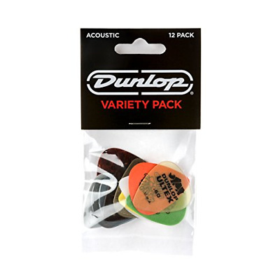 JIM DUNLOP PVP112 Acoustic Guitar Pick Variety Pack • 8.10£