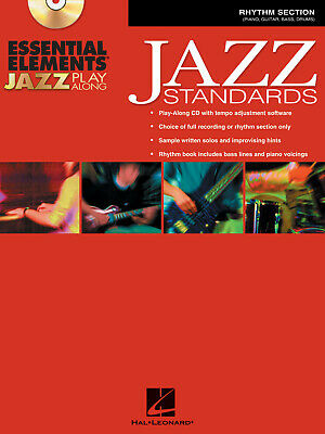 Essential Elements Jazz Play Along Standards Rhythm Section MUSIC BOOK CD ROM • 18.50£