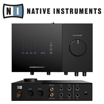 Native Instruments Komplete Audio 6 MK2 USB MIDI Audio Interface Inc Software • 179£