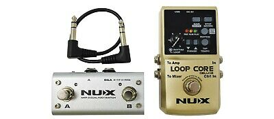NUX Loop Core Deluxe 24-Bit Looper Pedal Bundle • 99£