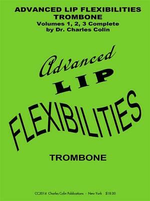 Advanced Lip Flexibilities Charles Colin Trombone Learn To Play MUSIC BOOK Only • 21.95£