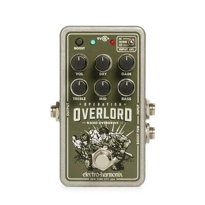Electro-Harmonix Nano Operation Overlord Overdrive pedal w/ 9v power supply