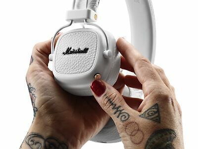 Marshall Major III Foldable 30+ Hour Bluetooth Wireless On Ear Headphones, White • 129£