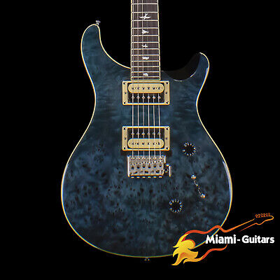 PRS Limited Edition SE Custom 24 Exotic Poplar Burl Whale Blue (9986) • 691.67£