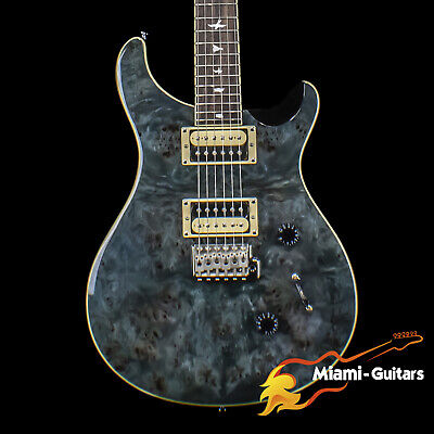 PRS Limited Edition SE Custom 24 Exotic Poplar Burl Whale Blue (7238) • 691.67£