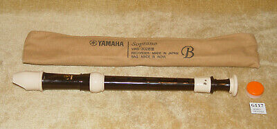 YAMAHA Soprano RECORDER YRS-302B III With OFFICIAL Case & Joint CREAM • 12.99£