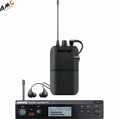 Shure PSM 300 Stereo Personal Monitor System with IEM P3TR112GR