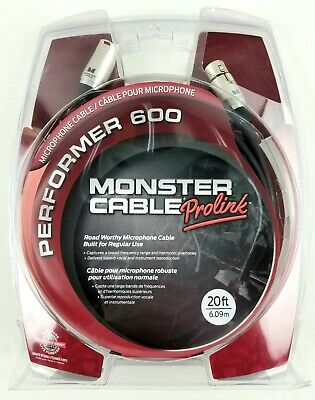 Brand New! Monster Prolink Performer 600 Microphone Cable - 20' XLR-XLR. B3 • 26.78£