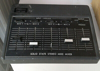 PHILMORE Solid State Mike Mixer Model SM195 • 30.87£