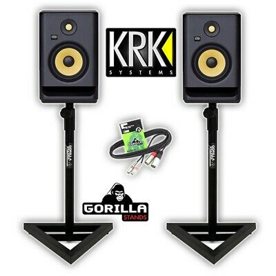 KRK Rokit RP7 G4  Active 6.25  DJ Studio Monitors Inc Gorilla Stands & Cable • 376£