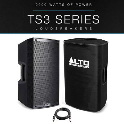 Alto TS315 15  2000W Powered Active PA Speaker Disco DJ Band + Cover + XLR Lead • 353£