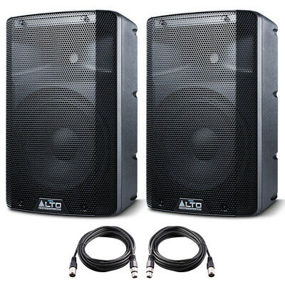 2x Alto TX210 10  600W Powered Active PA Speaker Or Stage Monitor DJ Band + Lead • 268£