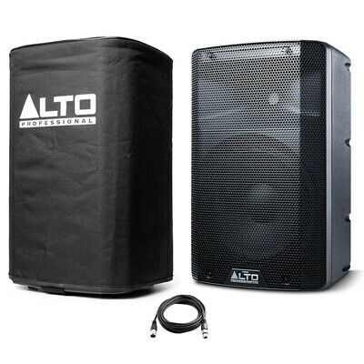 Alto TX210 10  300W Powered Active PA Speaker Or Monitor DJ Band + Cover + Lead • 158£