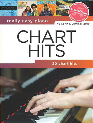 Really Easy Piano Chart Hits 20 Songs Music Book SoundCheck Practice App No 6 N5 • 10.39£