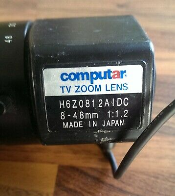 Computar H6Z0812AIDC 8-48mm 1:1.2 TV Zoom Lens • 0.99£