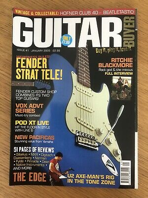 Guitar Buyer Magazine Jan 2005, The Edge, U2, Fender Tele Strat, Vox, Pod, MXR • 1.50£