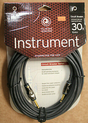 Planet Waves 30ft Circuit Breaker Instrument Cable #pw-ag-30 / Free Shipping!! • 46.33£