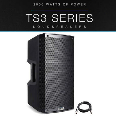 Alto TS310 10  2000W Powered Active PA Speaker Or Stage Monitor DJ Band + Lead • 259£