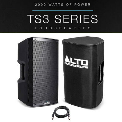 Alto TS310 10  2000W Powered Active PA Speaker Or Stage Monitor + Cover + Lead • 283£