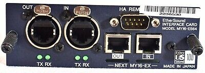 Yamaha MY16-ES64 Ether Sound Interface Card For DME, LS9, M7, DM1000, DM2000, CL • 123.05£