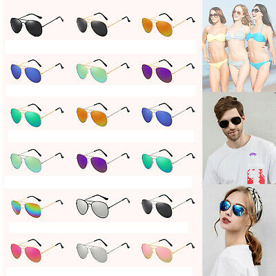 Polarized Sunglasses Men Ladies Women Unisex Mirror Vintage Retro Pilot • 3.29£