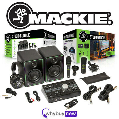 Mackie Studio Bundle Home Package With Big Knob Audio Interface & Software • 385£