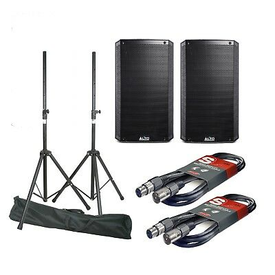 Alto TS315 Pair & Stands & Cables QTX Stagg 2000W PA Loudspeakers Tripods Bundle • 597£