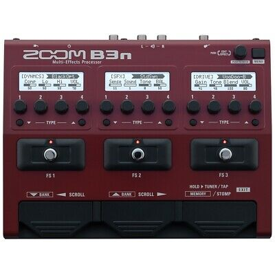 Zoom B3n Bass Multi Effects Pedal • 239£