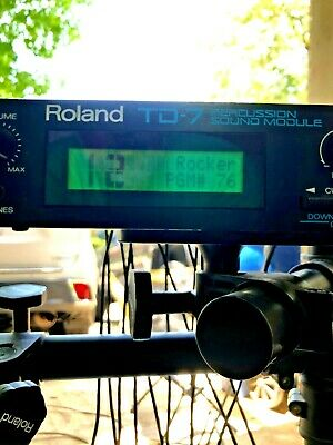Roland TD-7 Electronic Drums With Roland Personal Monitor • 354.21£