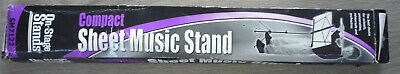 On Stage Stands SM7122BB Compact Sheet Music Stand With Bag Black Bargain NEW • 15£