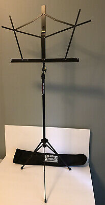 On-Stage SM7122BB Compact Folding Sheet Music Stand, Black • 6.89£