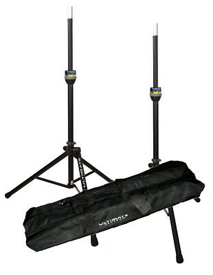 2 Ultimate Support TS90 Speaker Stands W/ BAG90D Package  TS90B W/ Telelock • 201.57£
