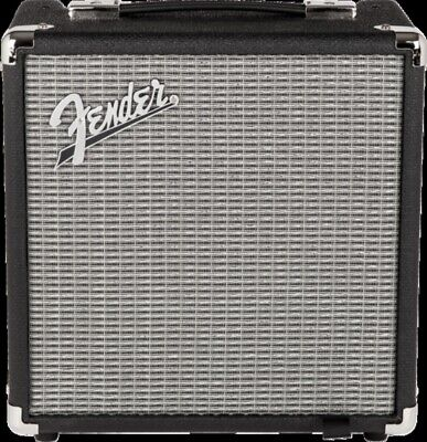 Fender Rumble 15 (V3), Black/Silver Bass Guitar Amplifier Combo • 98.56£