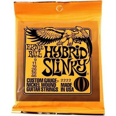 Ernie Ball 2222 Package Strings For Electric Guitar Gauge 9-46 Hybrid Slinkly • 14.27£