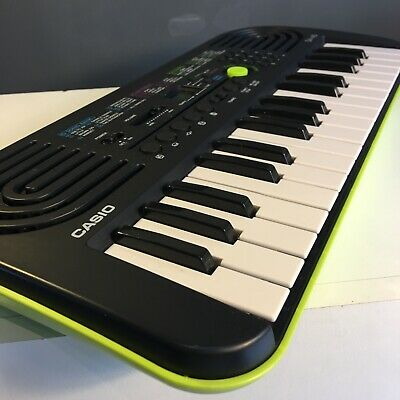 Casio SA-46 Portable Mini 32 Key Keyboard Green With Speakers Drum Pads  • 23.99£