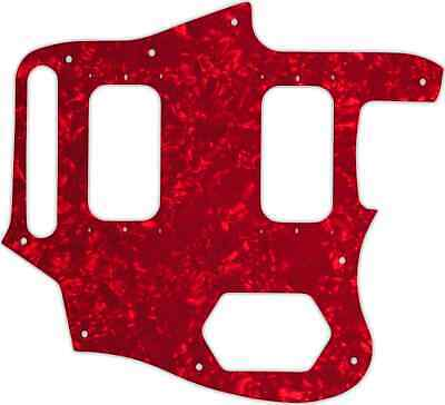 WD Custom Pickguard For Fender Kurt Cobain Signature Series Jaguar #28R Red P... • 37.03£