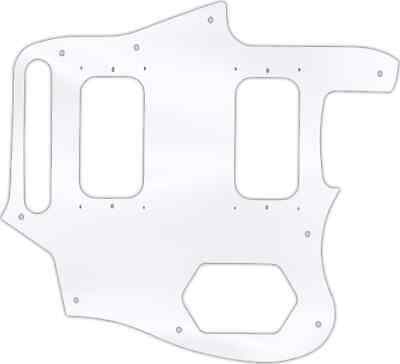 WD Custom Pickguard For Fender Kurt Cobain Signature Series Jaguar #45 Clear ... • 32.59£