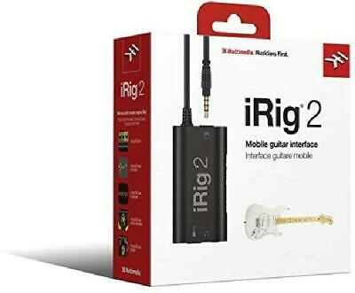 Mobile Guitar Interface IRig 2 Electric Instrument Input For Use With Phone App • 41.98£