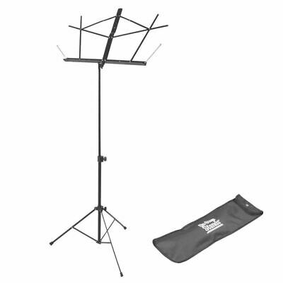 On-Stage Compact Music Stand W/Bag - Black • 12.99£