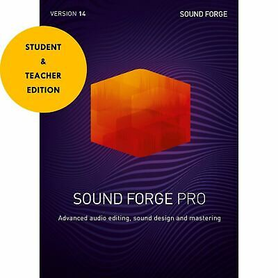 MAGIX Sound Forge Pro 14 Student & Teacher Edition - Download **Audio Editing • 144.94£