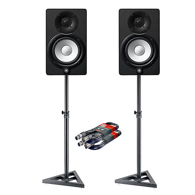 2x Yamaha HS5 Studio Monitor Speakers With Stands & Cables For Music Production • 325.50£