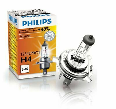 H4 PHILIPS Vision 12V 60/55W 12342PRC1 P43t-38 Headlight Car Bulb Single • 6.99£